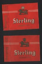 Old 2 different varieties cigarette packets    #356